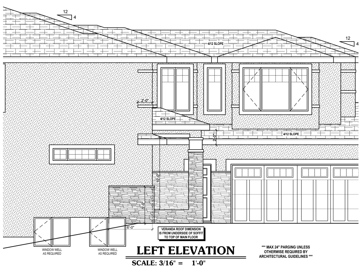 Sample Front Elevation Training : Sample drawing gallery « draw designs custom home plans