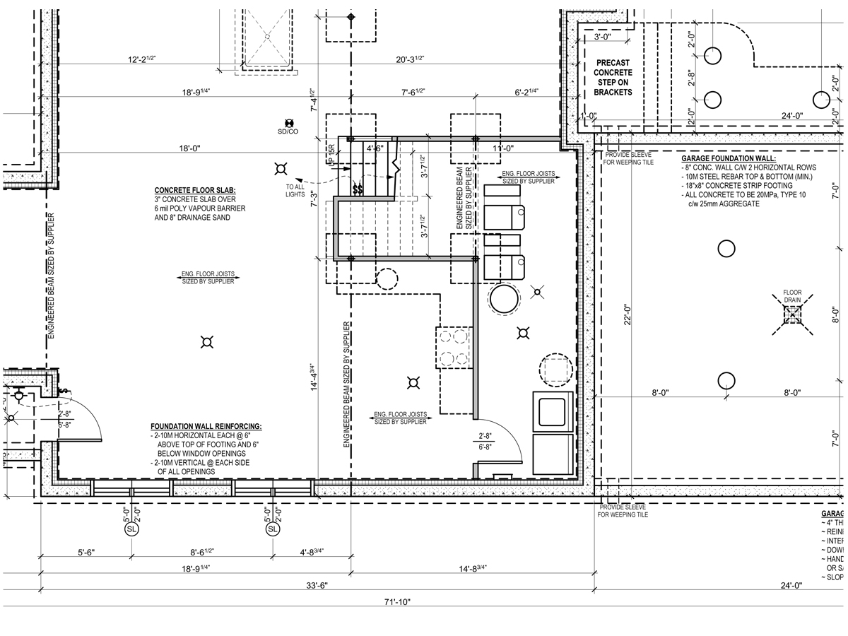 Smart placement home foundation plan ideas building for House foundation plan