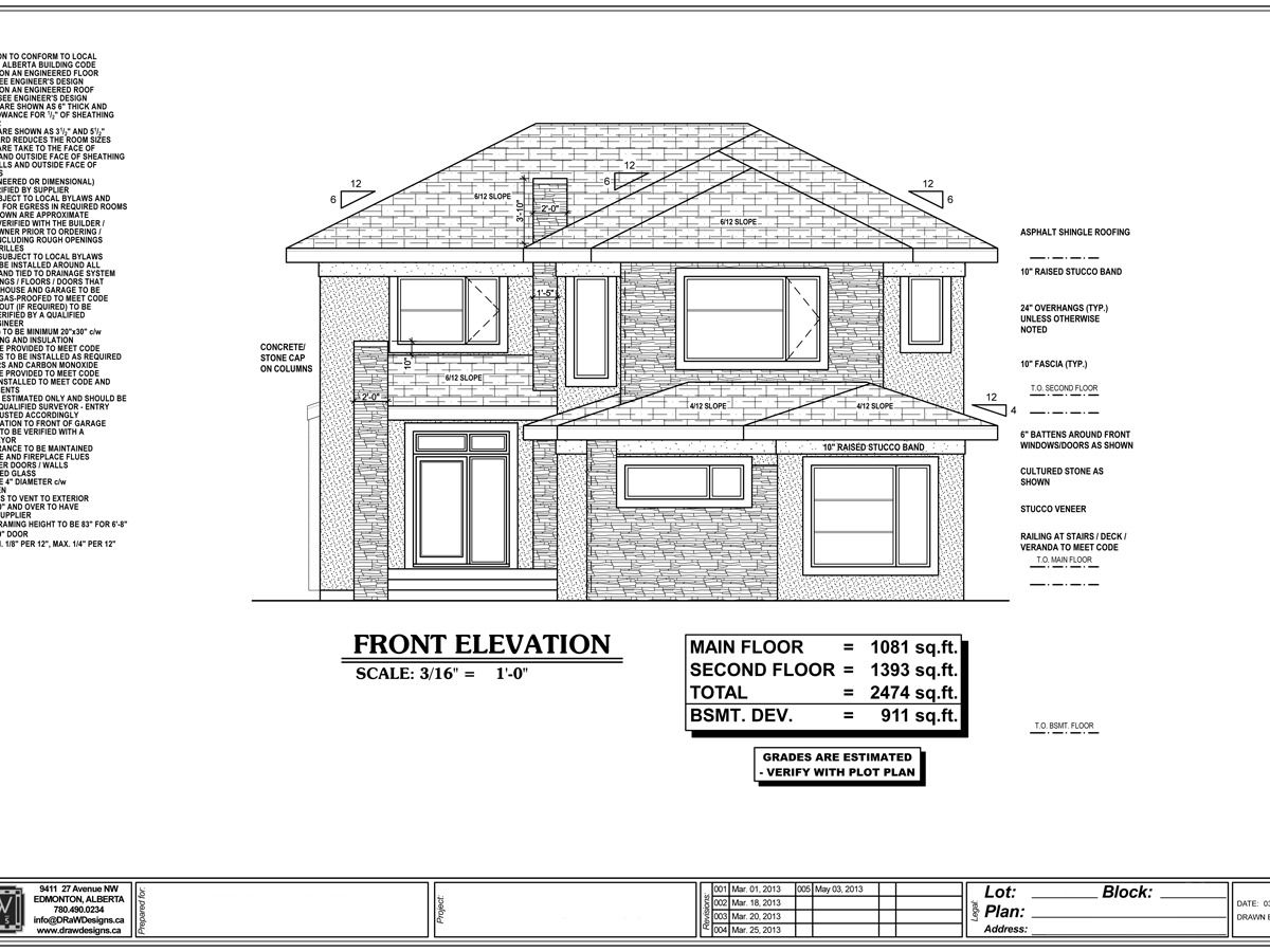 Sample Drawing Gallery DRaW Designs Custom Home Plans